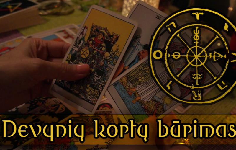 Devynių kortų būrimas tarot