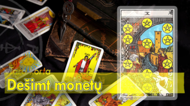 Monetų karalienė taro korta