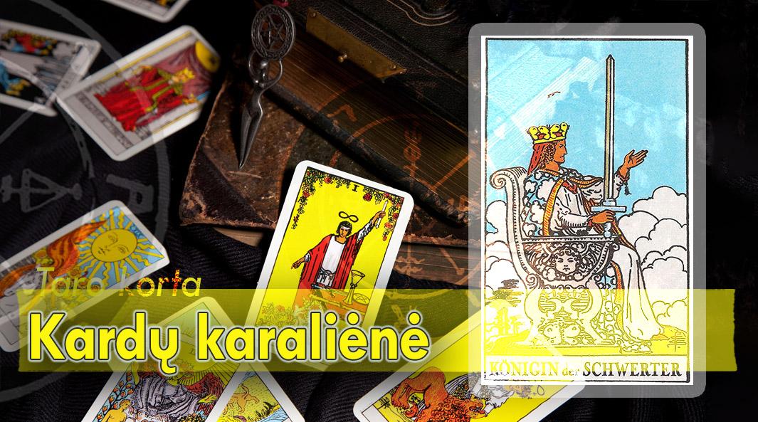 Kardų karalienė taro korta