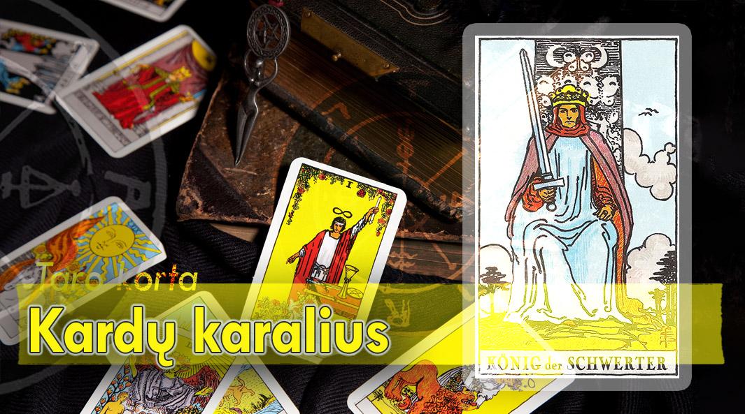 Kardų karalius taro korta