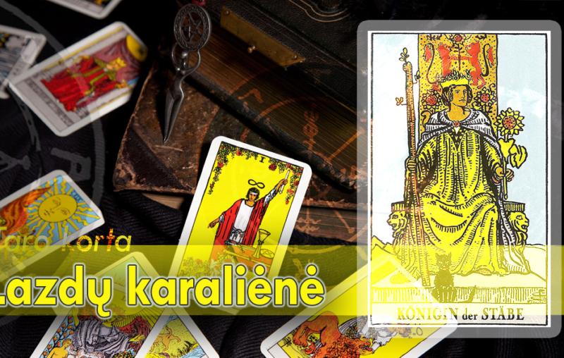 Lazdų karalienė taro korta