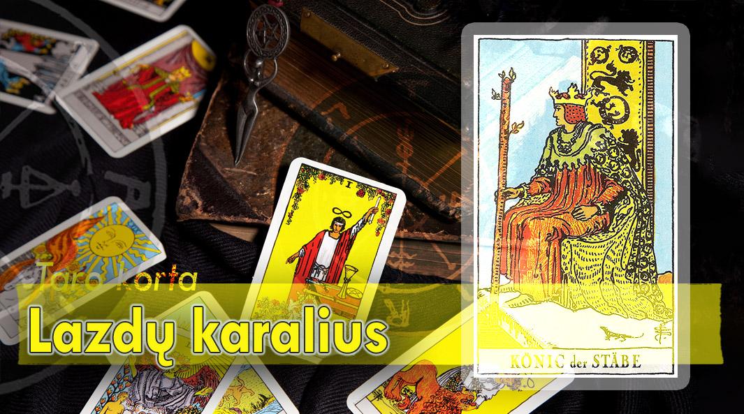 Lazdų karalius taro korta