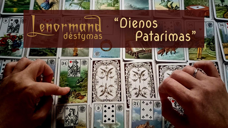 """Lenormand kortų dėlionė """"Dienos patarimas"""""""