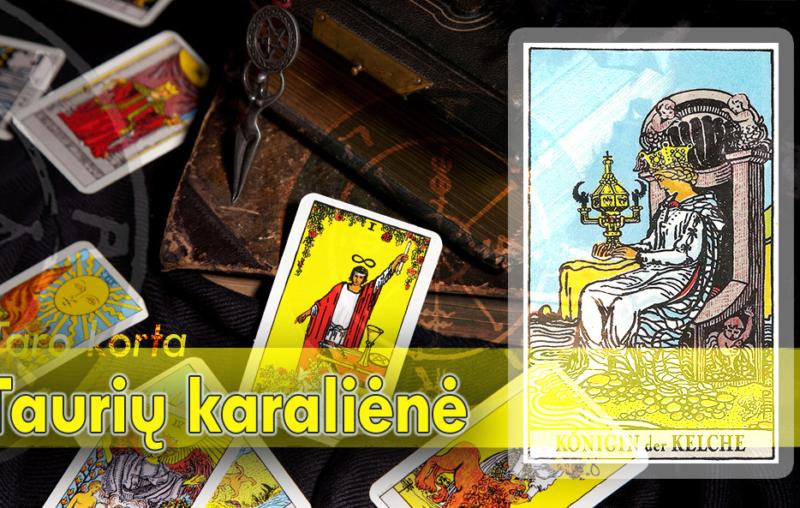 Taurių karalienė taro korta