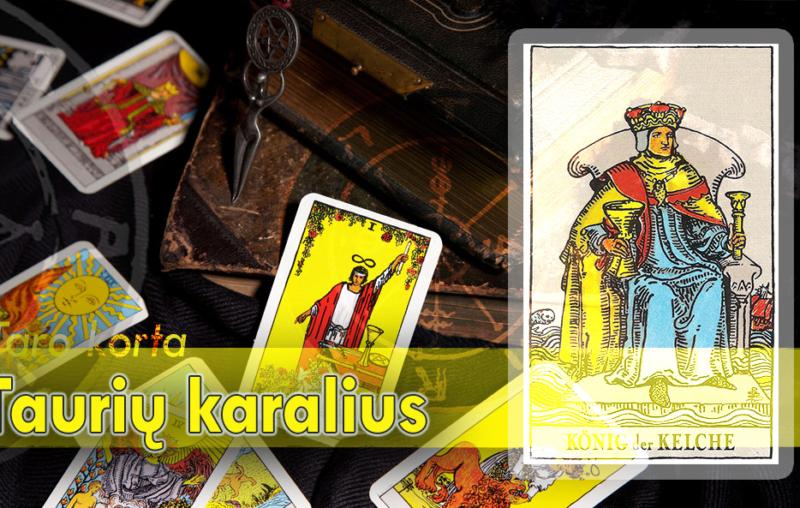 Taurių karalius taro korta